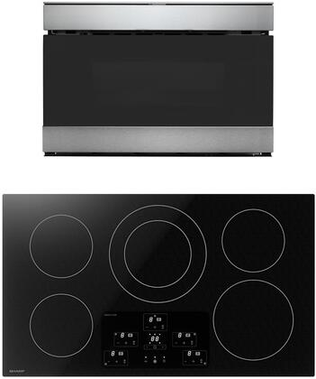 2 Piece Kitchen Appliances Package with SDH3652DB 36″ Electric Induction Cooktop and SMD2489ES 24″ Microwave Drawer in Stainless