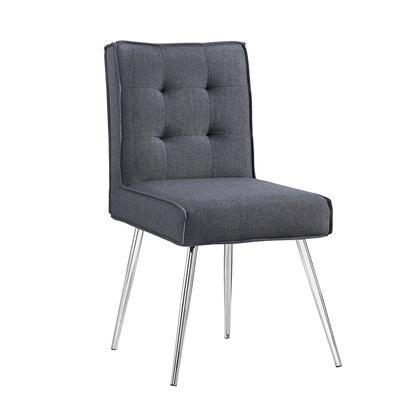 Linon Astra 368362GRY02U Accent Chair, 368362GRY02U Astra Dark Gray Chair