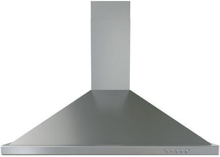 BE-E36BS36″ Brisas Series Chimney Style Wall Mount Range Hood with 600 CFM Internal Blower  3 Speed Push Button Controls  Halogen Lighting  Push