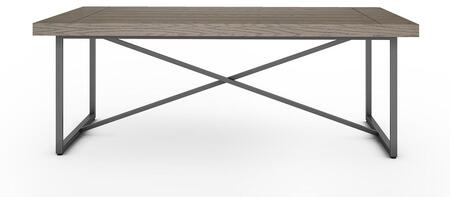 Signature Home Collection FT48ICFCG X Coffee Table with Textured  Powder Coated Metal Frame  Thick MDF Top and Easy Assembly in Coastal