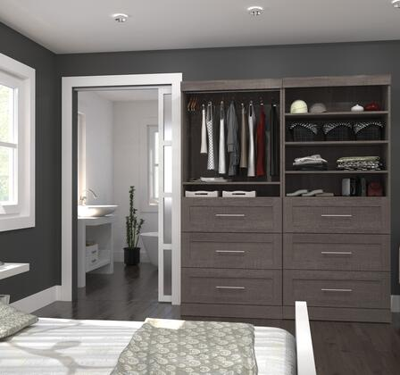 Bestar Furniture 2685647 Wardrobe, bestar pur murphy bed bark grey 26856 47 room