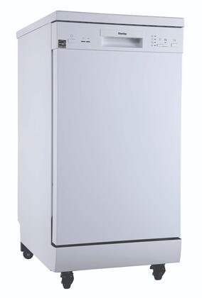DDW1805EWP 18″ Portable Dishwasher with 8 Place Setting Capacity  4 Wash Cycles  Energy Star Certified  Adjustable Upper Rack  in
