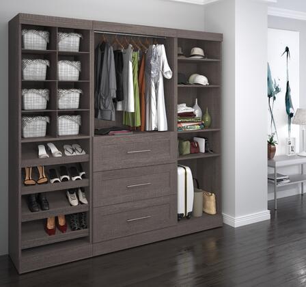 Bestar Furniture 2685347 Wardrobe, bestar pur murphy bed bark grey 26853 47 room