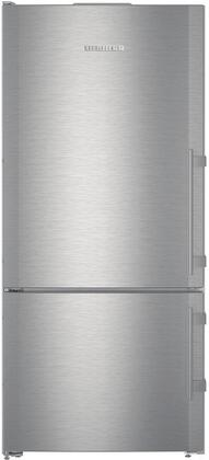 Liebherr CS1400RL Bottom Freezer Refrigerator Stainless Steel, CS1400RL Front View