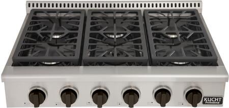 Kucht Professional KRT361GULPK Gas Cooktop Stainless Steel, Main Image