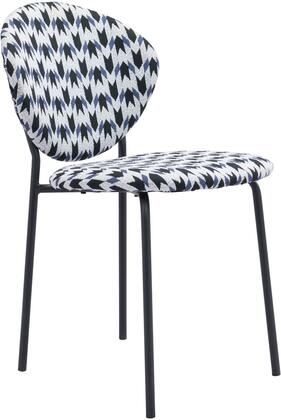 101518 Clyde Chair Geo Multicolor  (Set of
