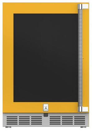 Hestan  GRWGL24YW Compact Refrigerator Yellow, Main Image