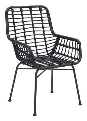 Zuo Lyon 703942 Dining Room Chair Black, 703942 1