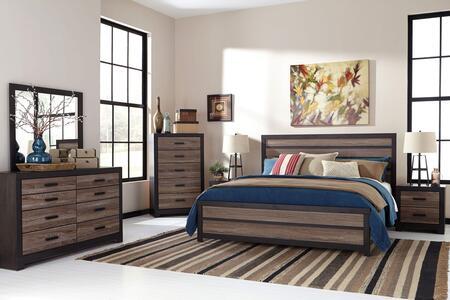 Signature Design by Ashley Harlinton 5 Piece King Size Bedroom Set