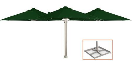 Shadowspec SU6 Series KITP6SQ25TRIOPBOGRNA Outdoor Umbrella, Olive Green