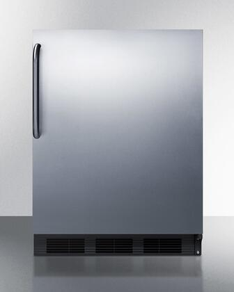 BI541B-SSTB 24 Dual Evaporator Undercounter Compact Refrigerator With 5.1 Cu. Ft. Capacity  2 Adjustable Glass Shelves  Cycle Defrost  And