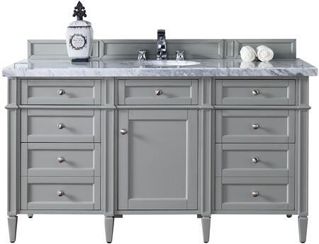 James Martin Brittany 650V60SUGR4CAR Sink Vanity Gray, Main Image