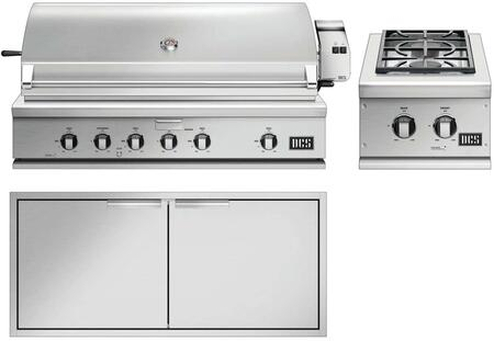 3 Piece Outdoor Kitchen Equipment Package with BH148RN 48″ Built-In Natural Gas Grill  BGC132BIN 15″ Natural Gas Double Sealed Side Burner and
