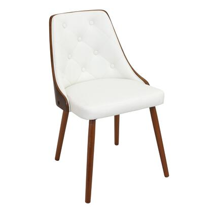 LumiSource Gianna CHJYGNNWLW Dining Room Chair White, mage 1