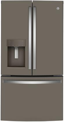 GE  GYE22GMNES French Door Refrigerator Slate, Front View