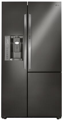 LG  LSXS26366D Side-By-Side Refrigerator Black Stainless Steel, Front