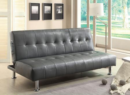 Furniture of America Bulle CM2669PGY Futon Gray, Main Image