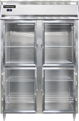 Continental Refrigerator Designer Line D2FNSAGDHD Commercial Reach In Freezer Stainless Steel, D2FNSAGDHD Reach-In Freezer
