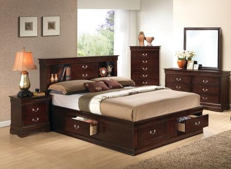 Glory Furniture G3125 G3125BQSBDMNC Bedroom Set Brown, Main View