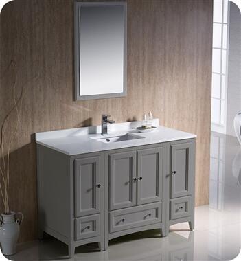 Oxford Collection FVN20-122412GR 48″ Grey Traditional Bathroom