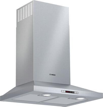 HCP34E52UC 24″ Chimney Wall Mount Range Hood with 300 CFM  Energy Star Certified  Three Speed Touch Controls and Dishwasher Safe Aluminum Mesh