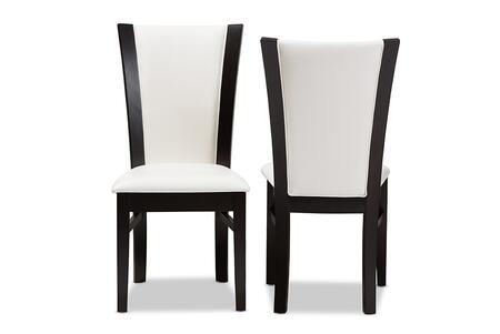 Wholesale Interiors Adley RH5510CDARKBROWNWHITEDC Dining Room Chair White, RH5510C-Dark Brown/White-DC set