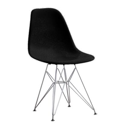 Fine Mod Imports WireLeg FMI2011BLACK Dining Room Chair Black, Image 1