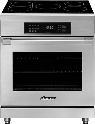 """Dacor Professional HIPR30S Freestanding Electric Range Stainless Steel, HIPR30S 30"""" Heritage Induction Pro Range"""