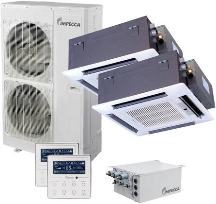 ISFC-6024X2 Flex Series Dual-Zone Mini Split System with 52 900 BTU Outdoor Unit  2x 22 800 BTU Ceiling Cassette Indoor Unit  2x Wired Controllers