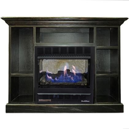 1127 Prestige Series NV 11272NATPRES-BLK Mantel and Natural Gas Wood Stove Combo in