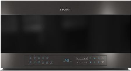 QVM7167BNTS 30″ Black Stainless Steel Over the Range Microwave with 1.6 cu. ft. Capacity  300 CFM  1000 Cooking Watts and WiFi