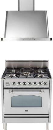 Ilve  1312605 Kitchen Appliance Package Stainless Steel, Main Image