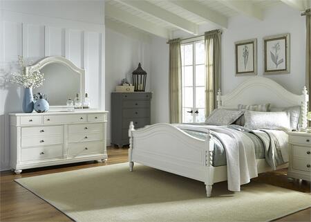Liberty Furniture Harbor View II 631BRKPSDM Bedroom Set White, Main Image