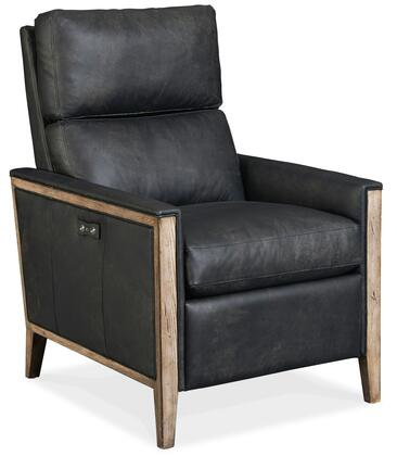 Hooker Furniture RC Series RC437PWR096 Recliner Chair Black, Silo Image