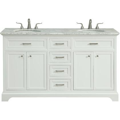 Elegant Decor Americana VF15060DWH Sink Vanity White, VF15060DWH