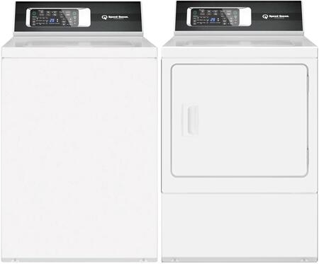 Top Load TR7003WN 26″ Washer with Front Load DR7000WE 27″ Electric Dryer Commercial Laundry Pair in