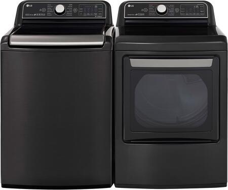 LG  1042531 Washer & Dryer Set Black, 1