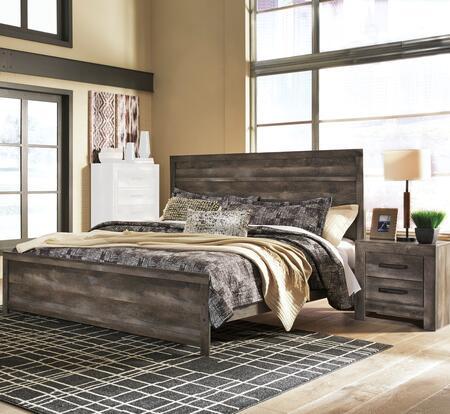 B440QLBBEDROOMSET 2-Piece Bedroom Set with Queen Size Low Profile Bed + Single Nightstand  in