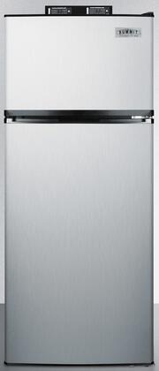 Summit  BKRF1159SS Top Freezer Refrigerator Stainless Steel, Main Image