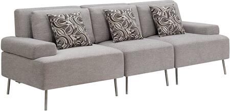 Furniture of America Bryn CM6341SET4 Living Room Sofa Gray, Main Image