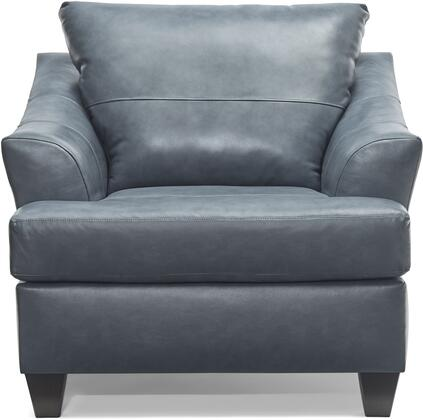 2063-01 SOFT TOUCH SHALE Chair 39″ 1/4 with Tufted Back Cushion and  Leather Upholstery in