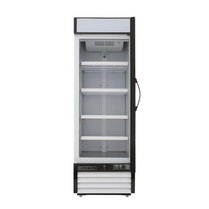 Maxx Cold MXM123R Display and Merchandising Refrigerator, Front View