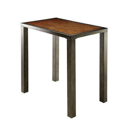 Furniture of America Jazlyn II CM3686BTTABLE Bar Table Brown, Main Image