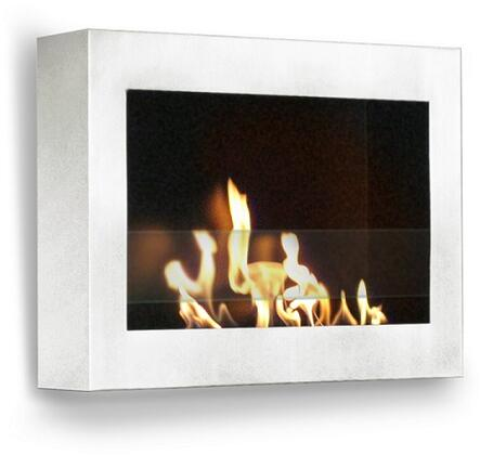 90213 Indoor Wall Mount Fireplace In SoHo White High