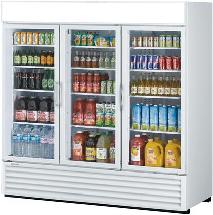 Turbo Air TGM72RSN Display and Merchandising Refrigerator White, TGM72RSN Angled View