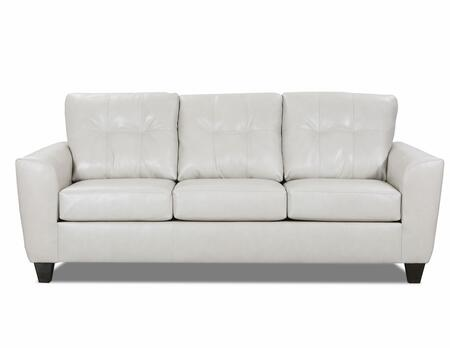 2024-04Q SOFT TOUCH CREAM 87″ Queen Sleeper with Tufted Back Cushions in Leather Cream