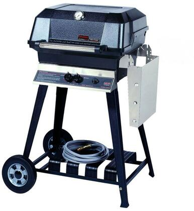 23″ Freestanding Natural Gas Grill Head with Cart 495 sq. inches Total Cooking Area  1 Dual Burner  30000 BTU  Electronic Ignition  Sta-Kool