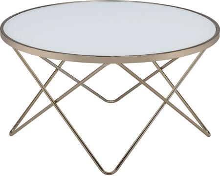 Acme Furniture Valora 81825 Coffee and Cocktail Table Silver, 1