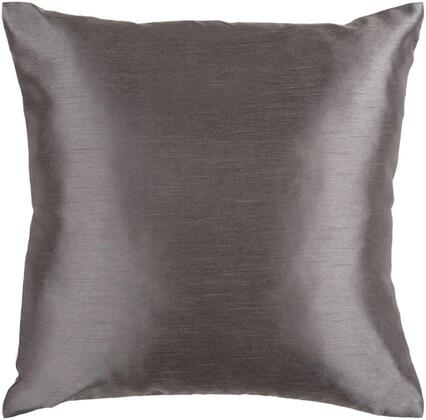 Surya Solid Luxe HH0342222P Pillow Gray, hh034 1818