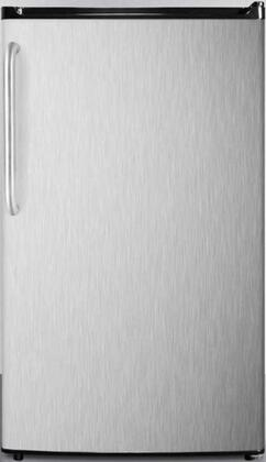Summit  FF433ESSSTB Compact Refrigerator Stainless Steel, Main Image